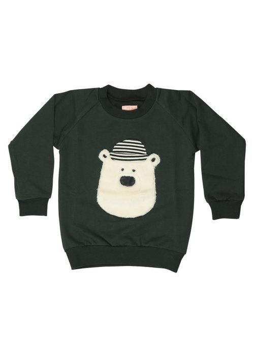 Wauw Capow Sweater Hello Teddy Green