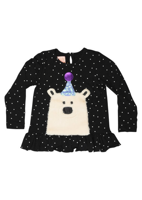 Wauw Capow by BangBang CPH Wauw Capow Shirt  Elly Bear Black with White Dots