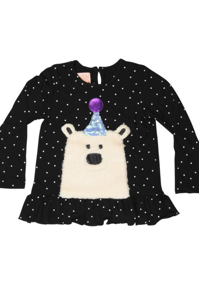 Wauw Capow Shirt Elly Bear Black with White Dots