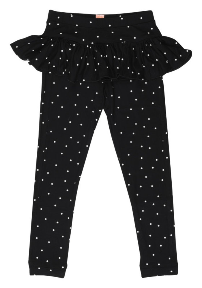 Wauw Capow Legging Betty Black with White Dots