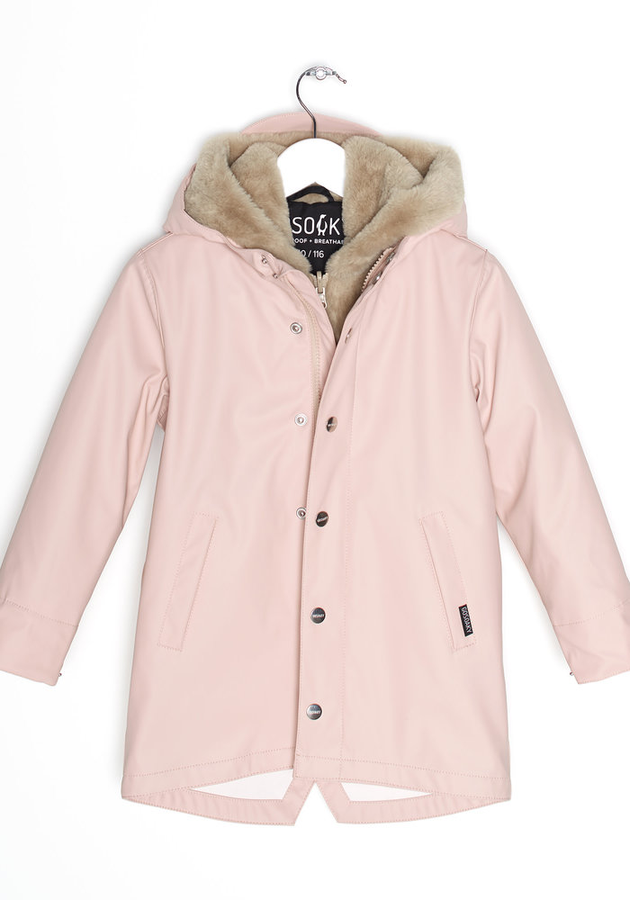 Gosoaky Snake Pit 3 in one Raincoat Evening Pink/Safari Fur