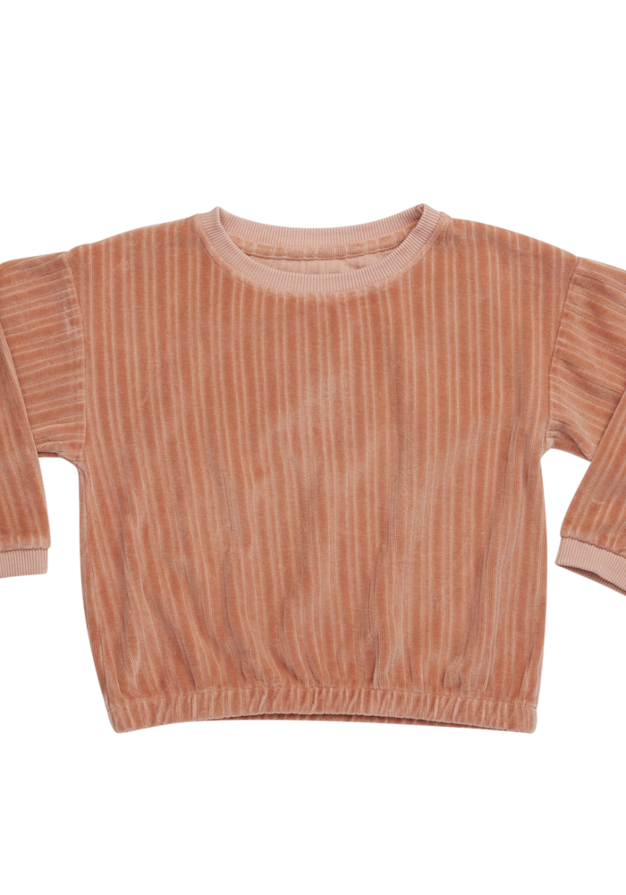 Blossom Kids Cropped Jumper Pastel Peach