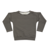 Blossom Kids Blossom Kids LS Shirt Stripes Espresso Black