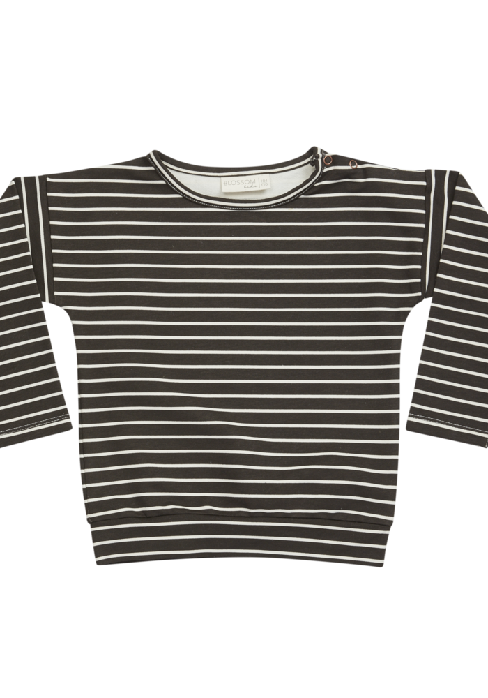 Blossom Kids LS Shirt Stripes Espresso Black