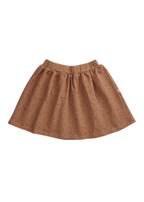 Blossom Kids Blossom Kids Skirt Leave Drops Caramel Fudge