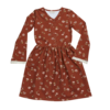 Blossom Kids Blossom Kids Maxi Dress Festive Floral with Flaired Sleeves & Lace Dusty Terra