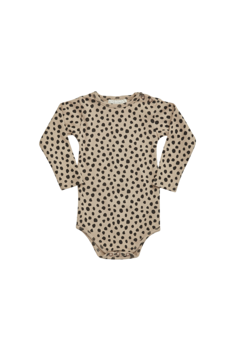 Blossom Kids Blossom Kids Printed Ribbed Body Animal Dot Warm Sand