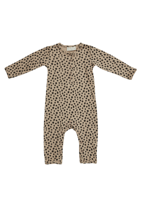Blossom Kids Blossom Kids Playsuit Printed Animal Dot Warm Sand