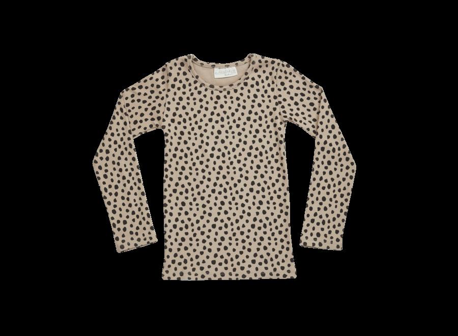 Blossom Kids LS Shirt Animal Dot Warm Sand