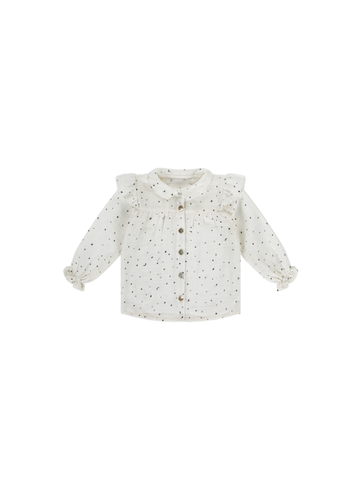 House of Jamie House of Jamie Frill Blouse Little Stars Cream