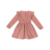 House of Jamie House of Jamie Girls Dress Dusty Mauve Golden Dots