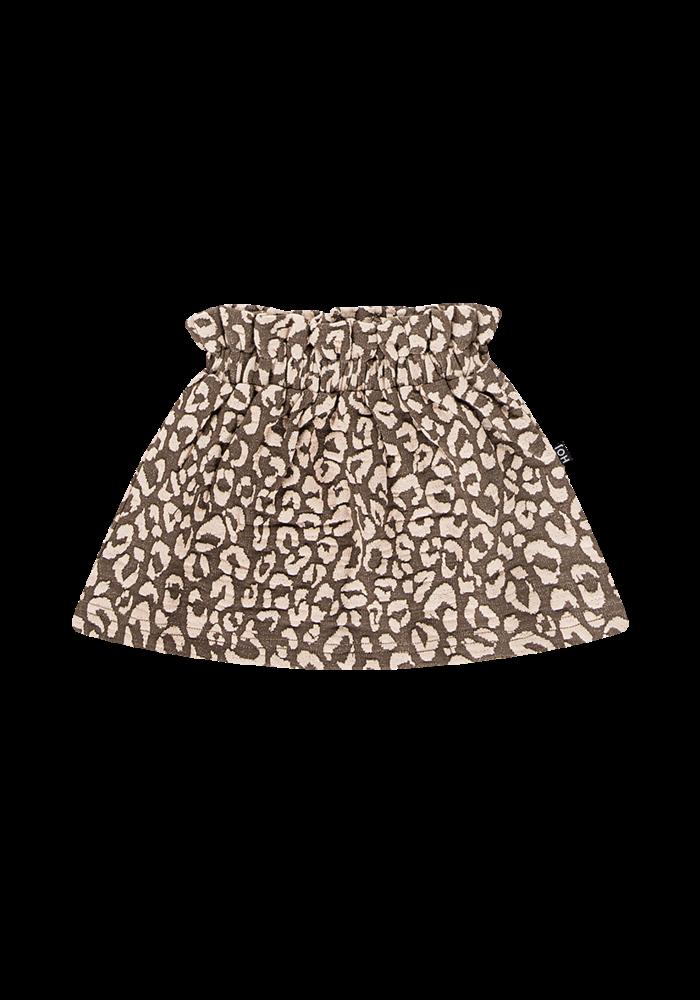 House of Jamie Paperbag Skirt Rosewood Leopard