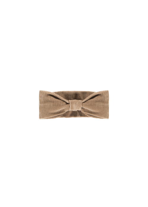 House of Jamie House of Jamie Bow Tie Headband Biscuit Rib Velvet