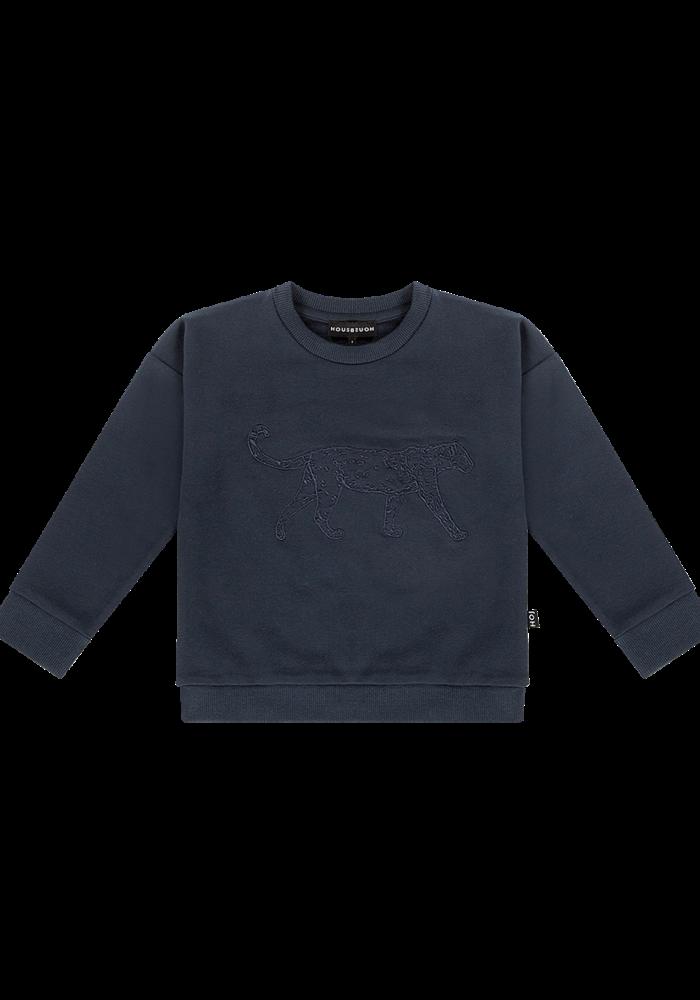 House of Jamie Crewneck Sweater Dark Blue Leo