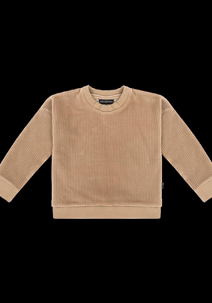 House of Jamie Crewneck Sweater Biscuit Rib Velvet