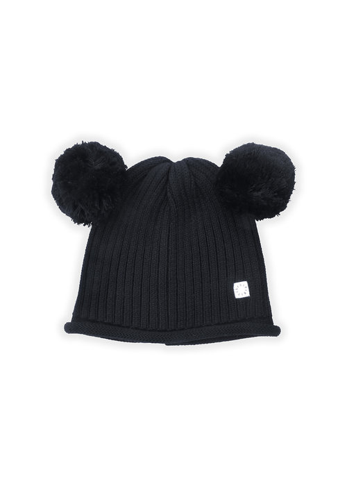 Sproet & Sprout Sproet & Sprout Beanie PomPom Black