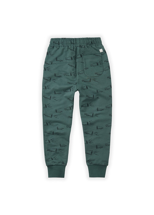 Sproet & Sprout Sproet & Sprout Sweatpants Megaphone AOP Dusty Green