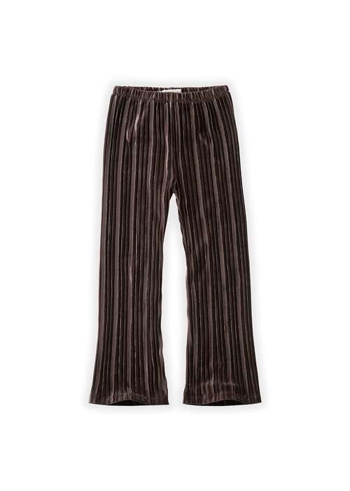 Sproet & Sprout Sproet & Sprout Pants Velvet Pleats Chocholate