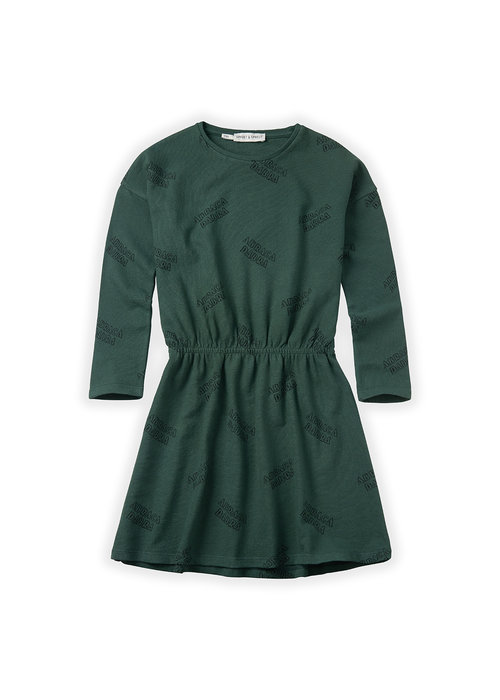 Sproet & Sprout Sproet & Sprout Dress Abracadabra AOP Dusty Green