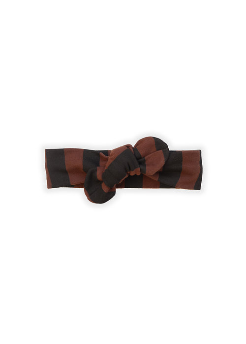 Sproet & Sprout Sproet & Sprout Turban Headband Painted Stripe Chocolate