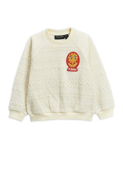 Mini Rodini Mini Rodini Flower Patch Sweatshirt Offwhite