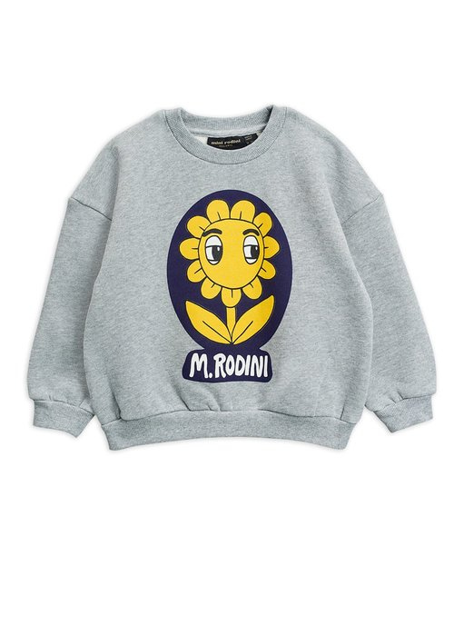 Mini Rodini Mini Rodini Flower SP Sweatshirt Grey Melange