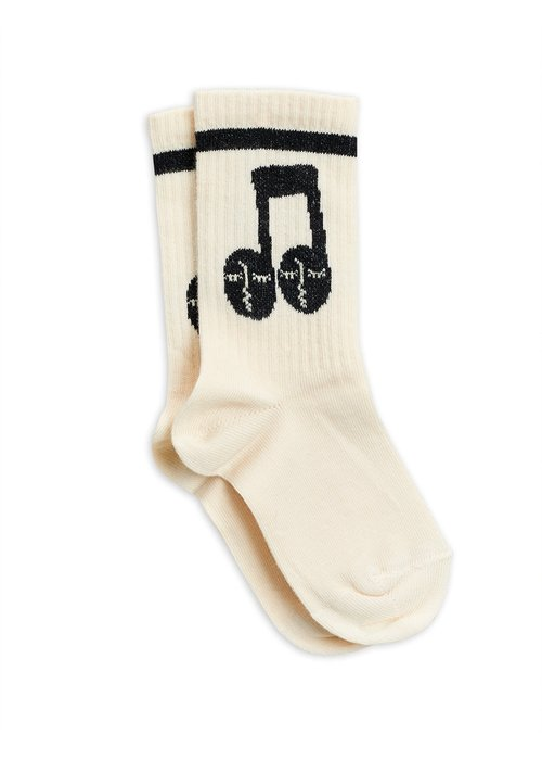 Mini Rodini Mini Rodini Notes Socks Offwhite
