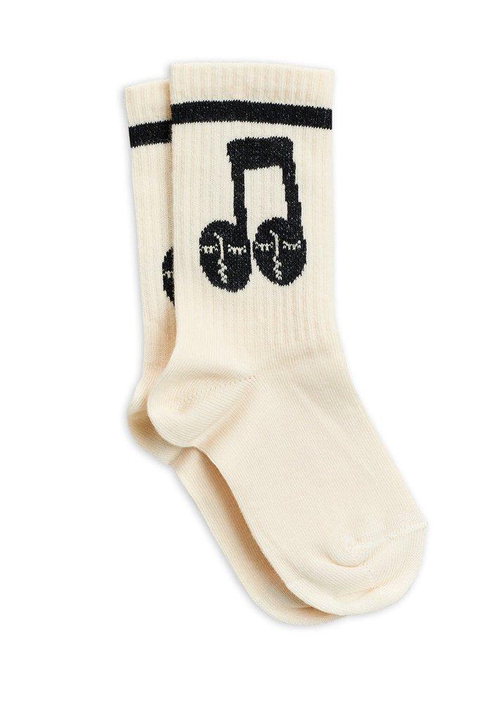 Mini Rodini Notes Socks Offwhite