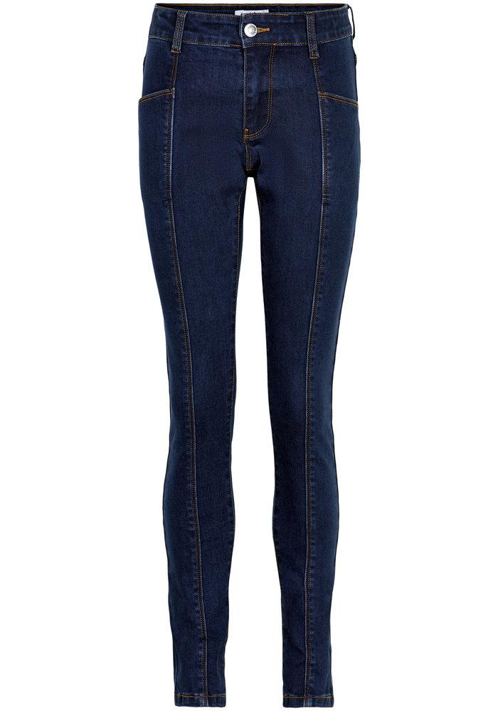 Cost Bart Kinnok Mid Waist Jeans Dark Blue Denim Wash