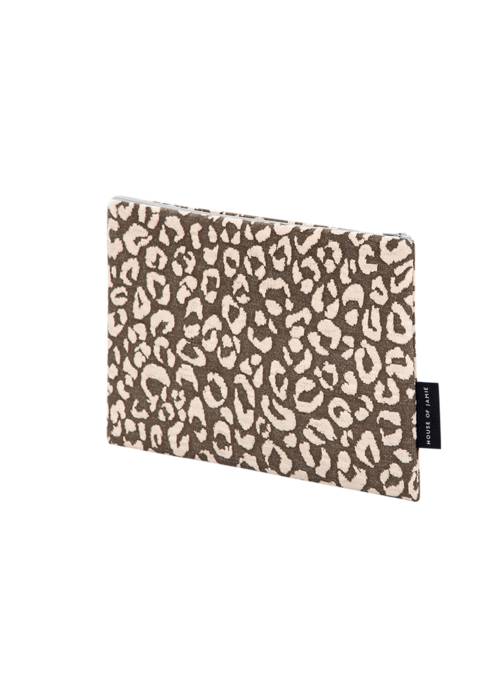 House of Jamie House of Jamie On The Go Clutch Rosewood Leopard