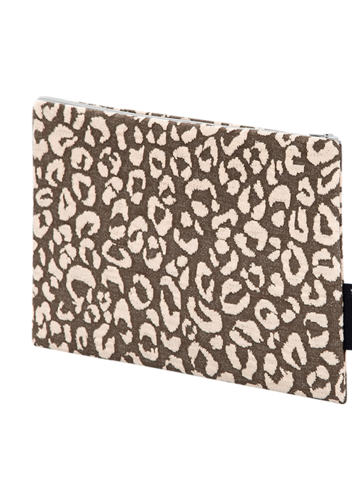 House of Jamie On The Go Clutch Rosewood Leopard