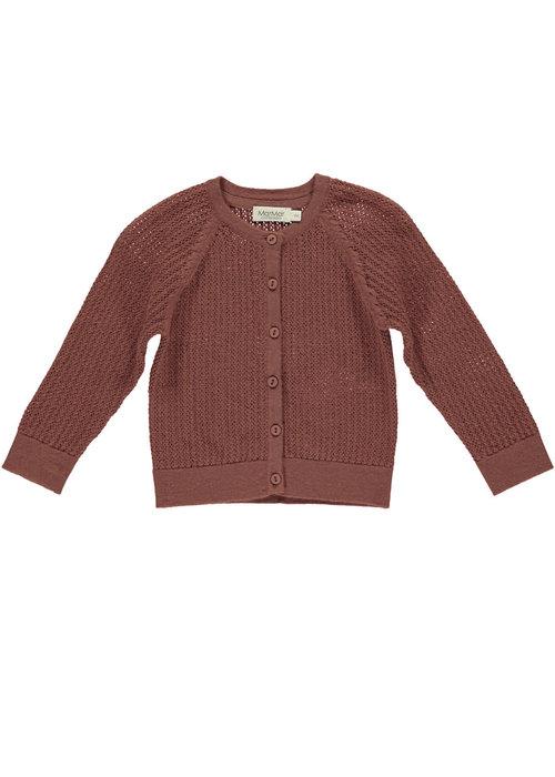MarMar MarMar Totti Pointelle Light Cotton Wool Dark Brick