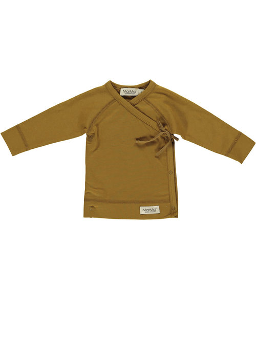 MarMar MarMar Tut Wrap LS Smooth Solid T-shirt Golden Olive