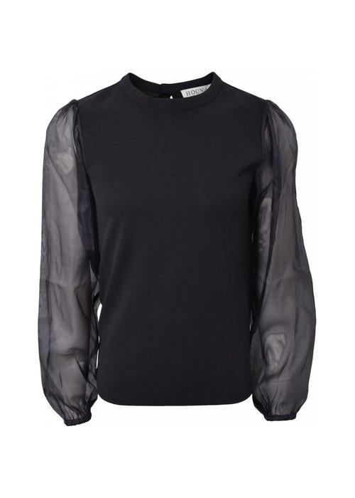 HOUND HOUND Puff Sleeve Top Black