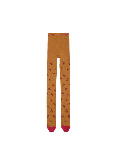 Soft Gallery Soft Gallery Junior Girl Tights Thai Curry Rosehips AOP