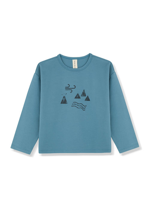 Kids on the Moon Kids on the Moon Teal Longsleeve