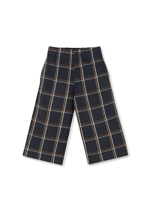 Kids on the Moon Kids on the Moon Anthracite Plaid Culottes