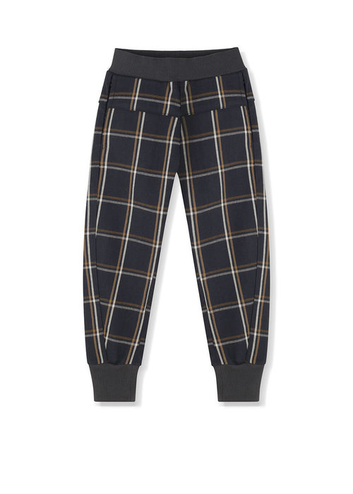 Kids on the Moon Kids on the Moon Anthracite Plaid Joggers