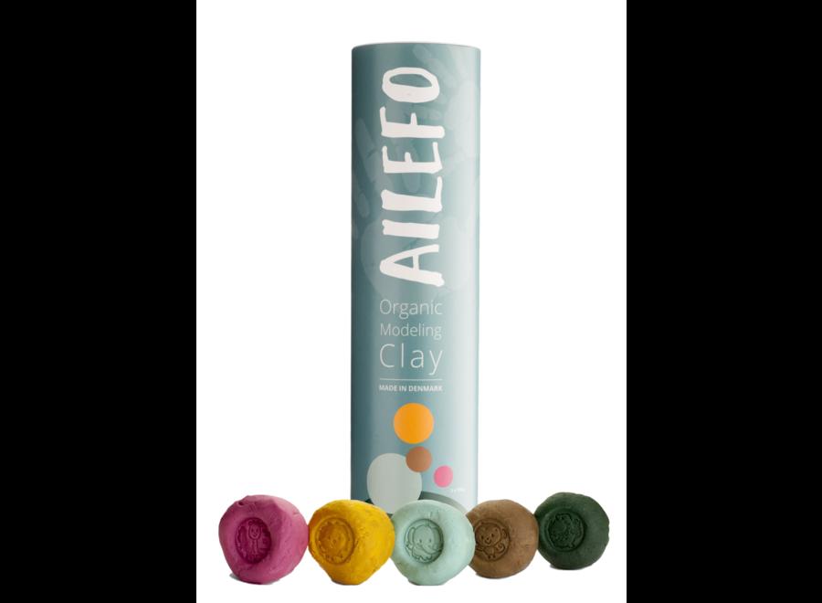 Ailefo Organic Clay Basic Colors Tube