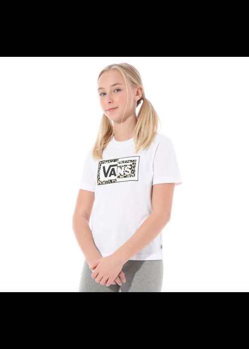 VANS Vans Split Leopard T-Shirt White