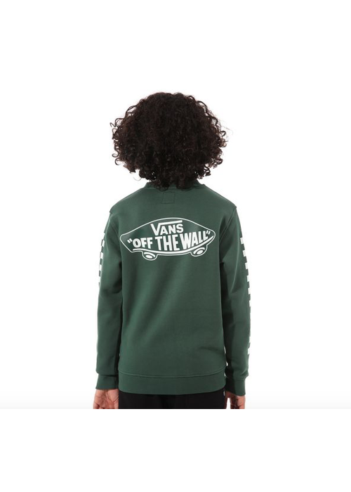 VANS Vans Exposition Check Crew Sweater Pine Needle