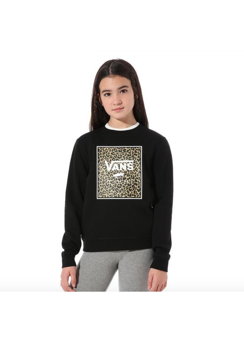 VANS Vans Leopard Box Crew Sweater Black