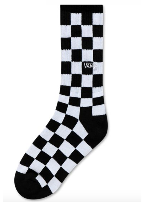 VANS Vans Checkerboard Crew Socks Black/White