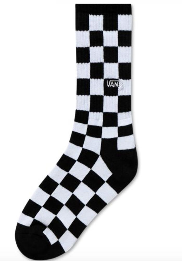 Vans Checkerboard Crew Socks Black/White