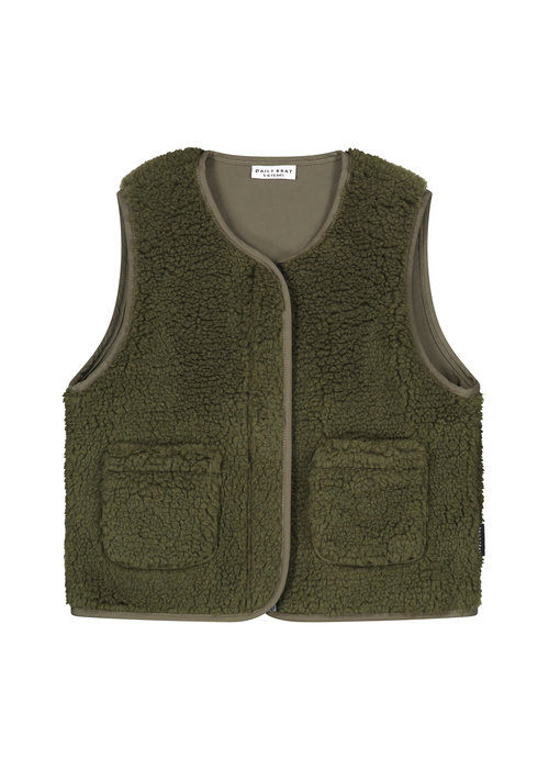 Daily Brat Daily Brat Teddy Vest Forest Green