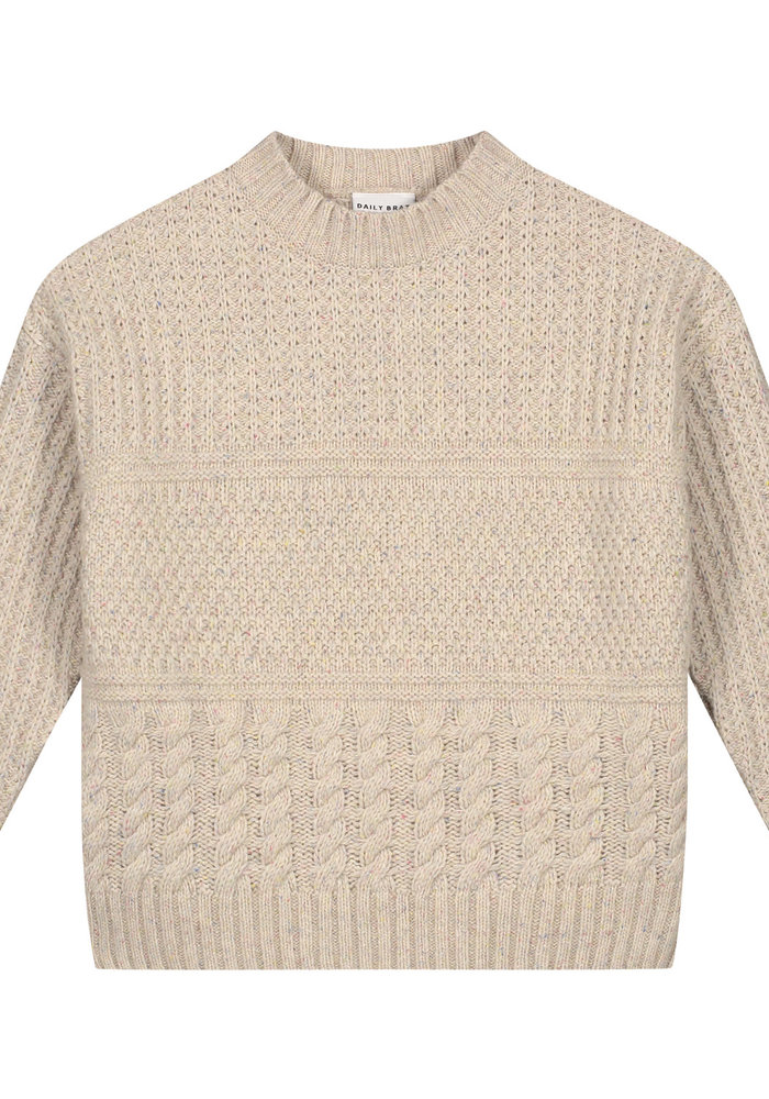 Daily Brat Mika Cable Knitted Sweater Ivory