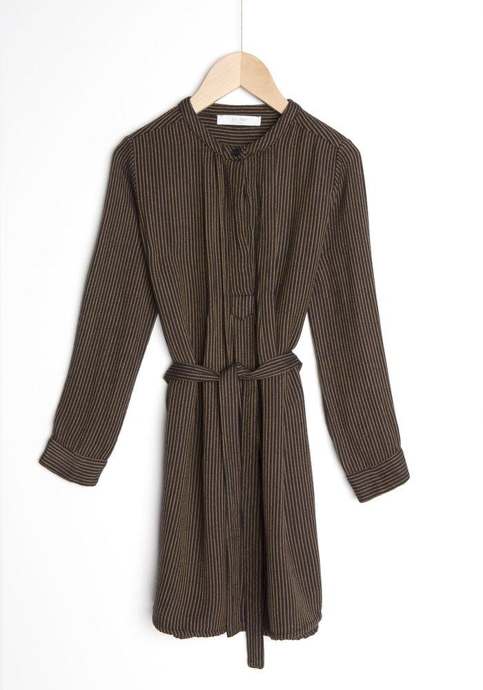 BY-BAR Rikki Stitched Dress Jet Black