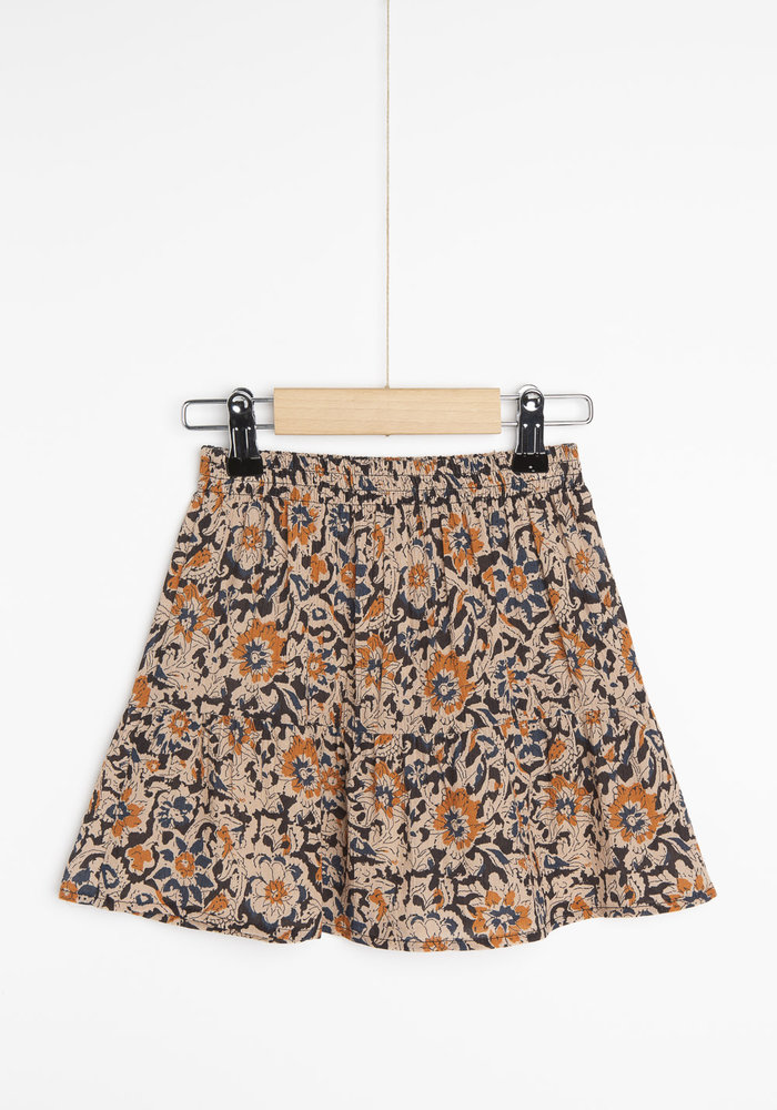 BY-BAR Charlie Sunflower Skirt Indigo Blue