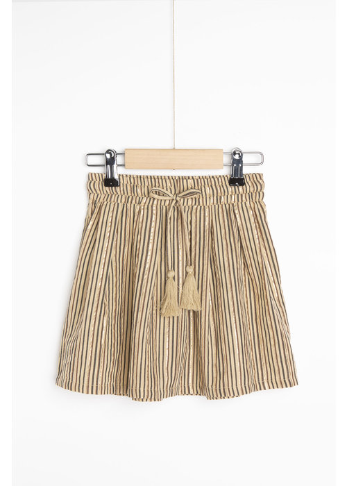 BY-BAR BY-BAR palino Sparkle Stripe Skirt Stone Sand