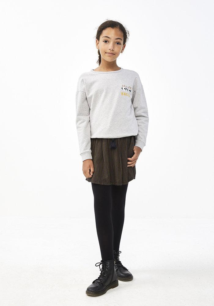 BY-BAR  Becky Art Sweater Grey Melee
